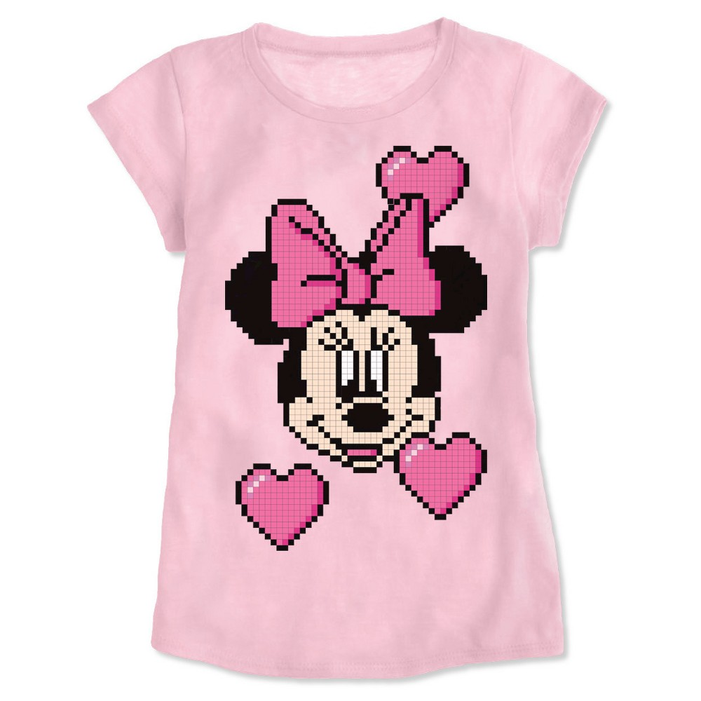 Girls' Minnie Mouse T-Shirt Pink XS
