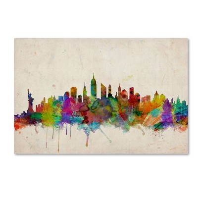 "22"" x 32"" New York Skyline by Michael Tompsett - Trademark Fine Art"
