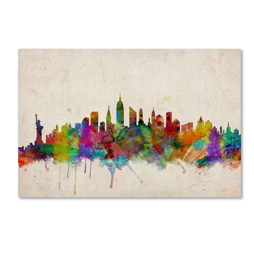 22 34 X 32 34 New York Skyline By Michael Tompsett Trademark Fine Art