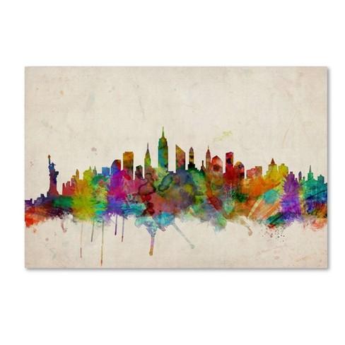 22 X 32 New York Skyline By Michael Tompsett Trademark Fine Art Target