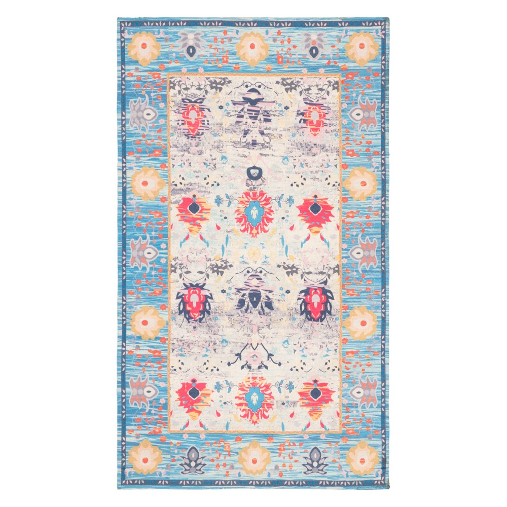 23X4 Floral Loomed Accent Rug Blue/Light Gray - Safavieh Price