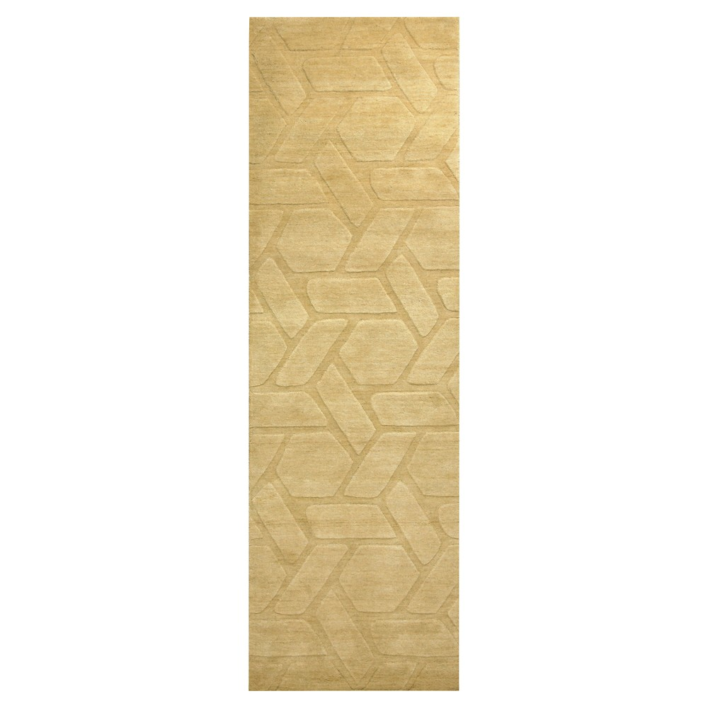 "Image of ""2'6""""X8' Solid Runner Gold - Rizzy Home, Size: 2'6""""X8' RUNNER"""