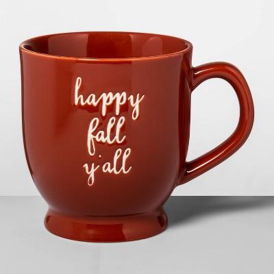 16oz-stoneware-happy-fall-footed-mug-red---opalhouse by opalhouse