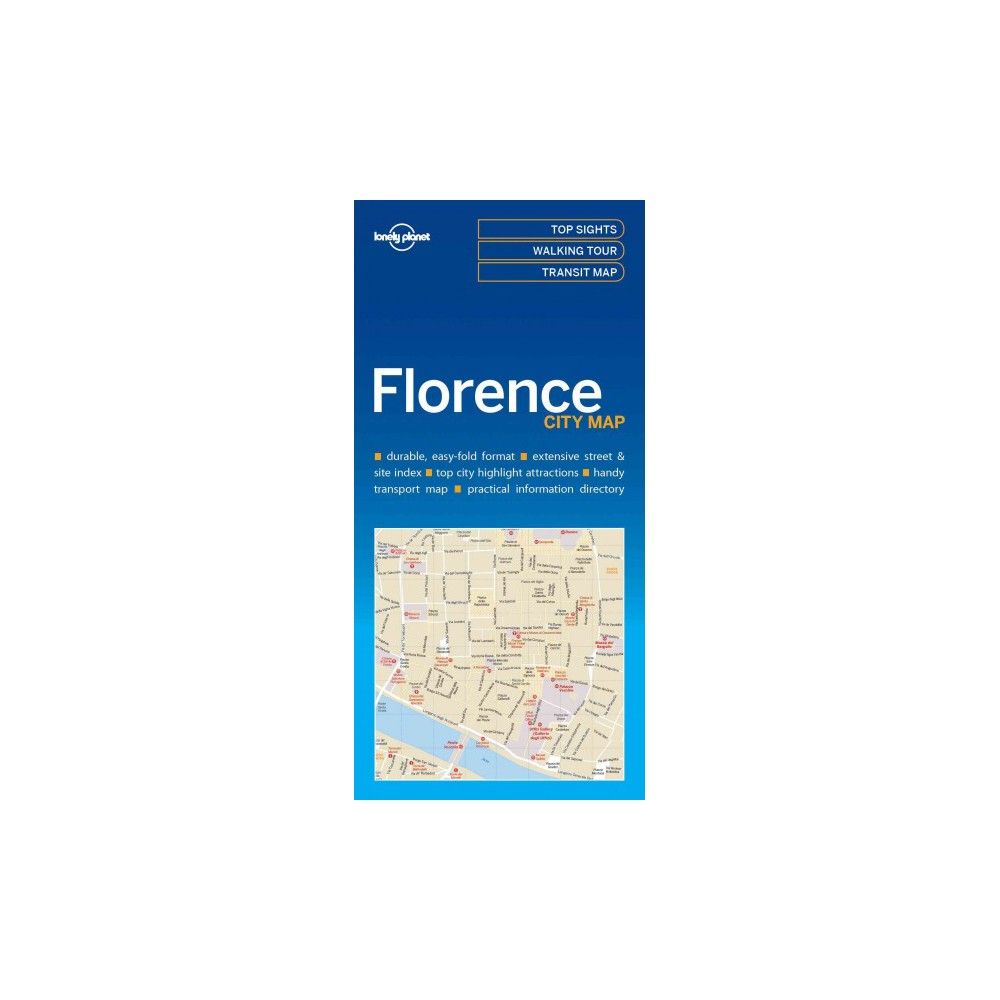 Lonely Planet Florence city Map (Paperback)