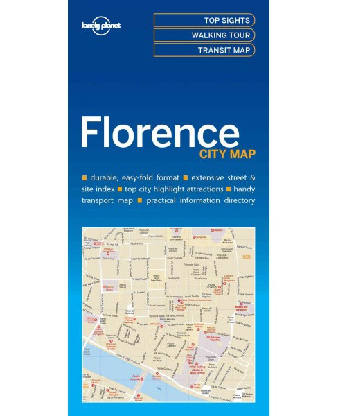 Lonely Planet Florence city Map (Paperback) - image 1 of 1