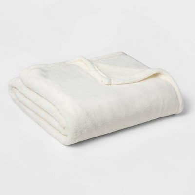 Twin/Twin XL Microplush Bed Blanket Sour Cream - Threshold™