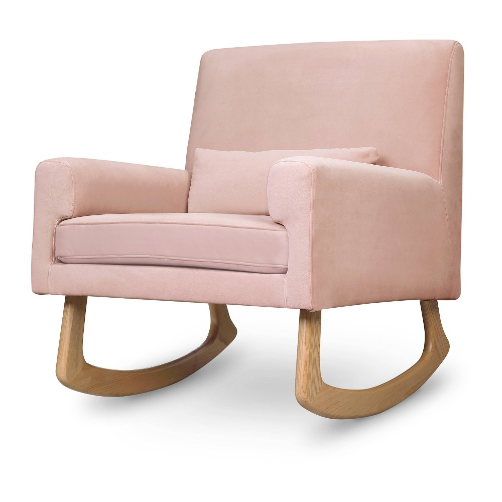 Image of Nursery Works Sleepytime Rocker - Blush Velvet With Light Legs