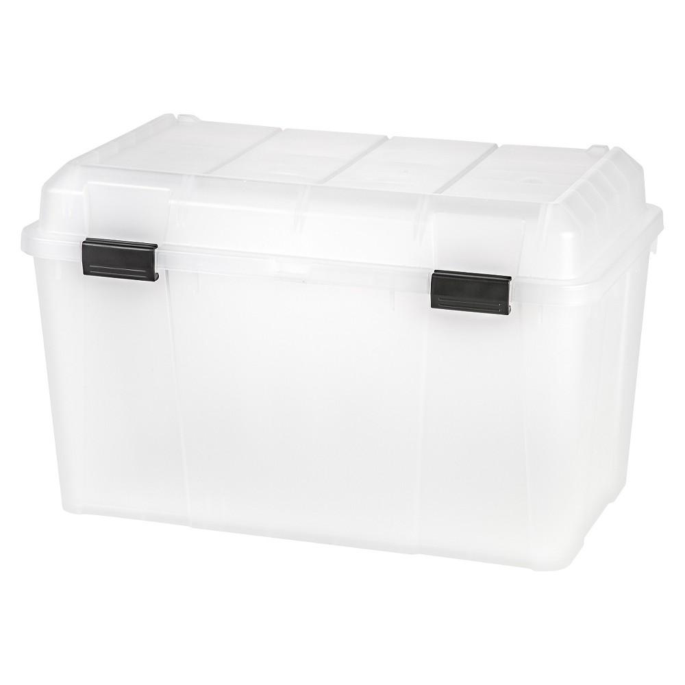 Iris 138 Qt Plastic Storage Trunk - 3 Pack, Clear
