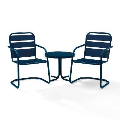 Brighton 3pc Metal Conversation Seating Set - Crosley