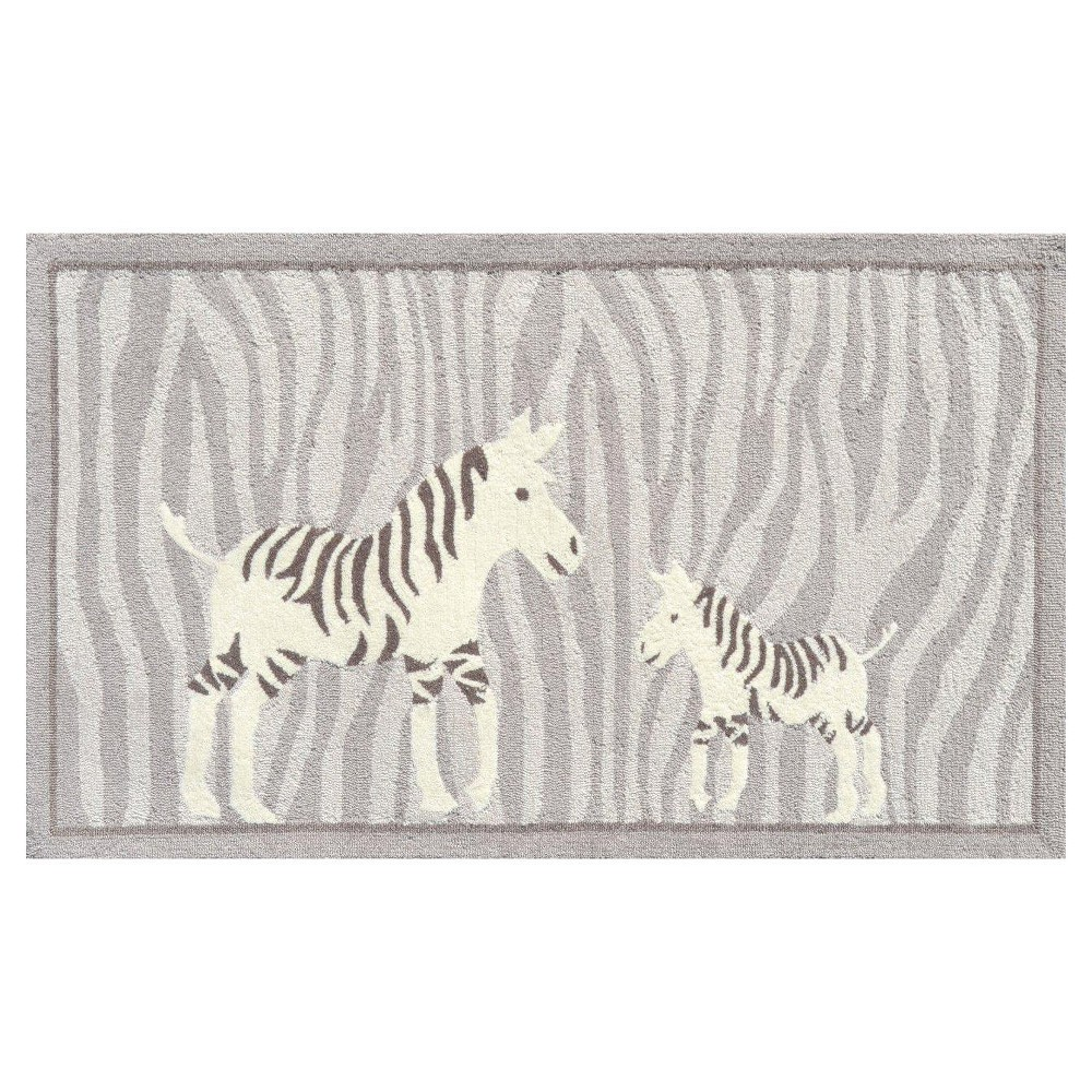 "Image of ""Gray Zebra Area Rug (32""""x56"""") - The Rug Market"""