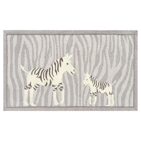 Gray Zebra Area Rug (3'x5') - The Rug Market - image 1 of 2