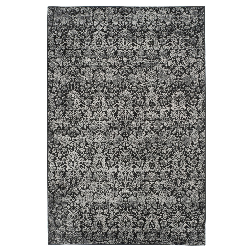 Branco Vintage Area Rug - Black / Light Gray ( 6' 7