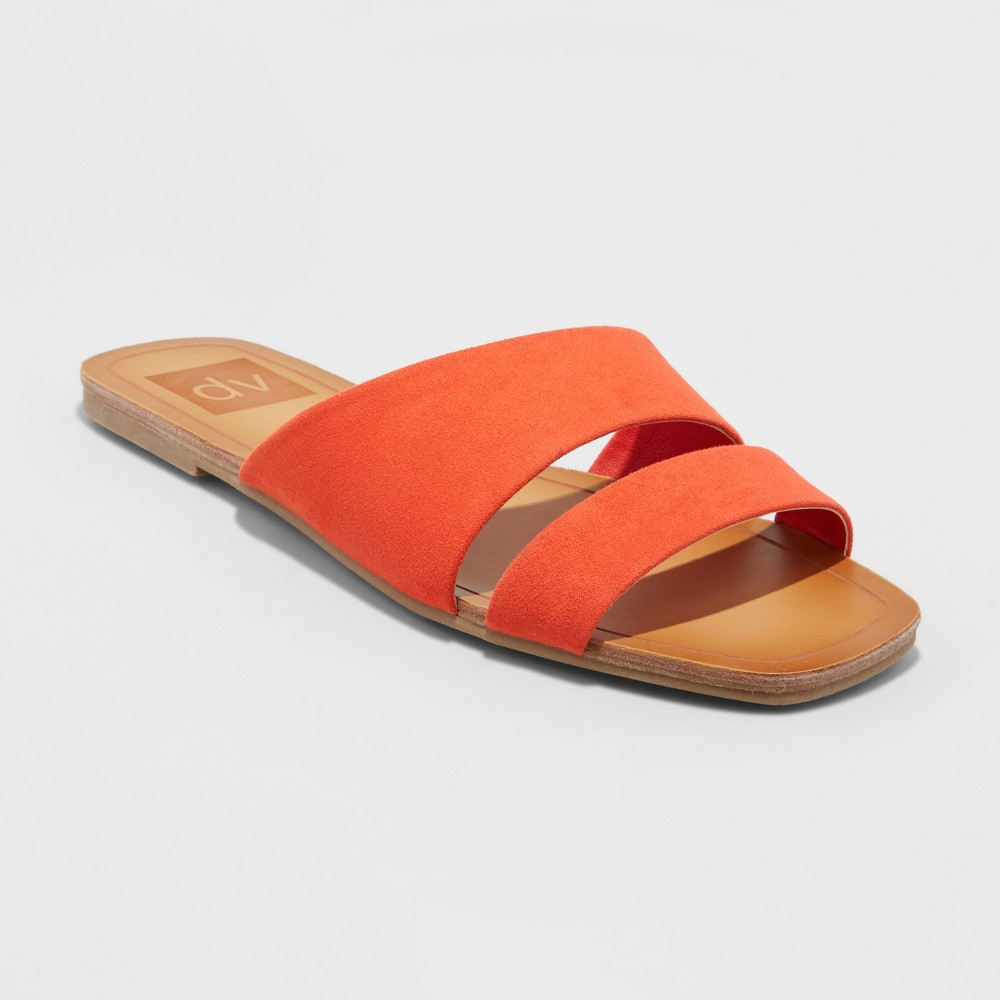 Women's dv Bryn Asymmetrical Slide Sandals - Coral (Pink) 8.5
