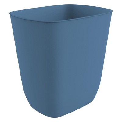 No-lid Trash Can Glisten Blue - Room Essentials™