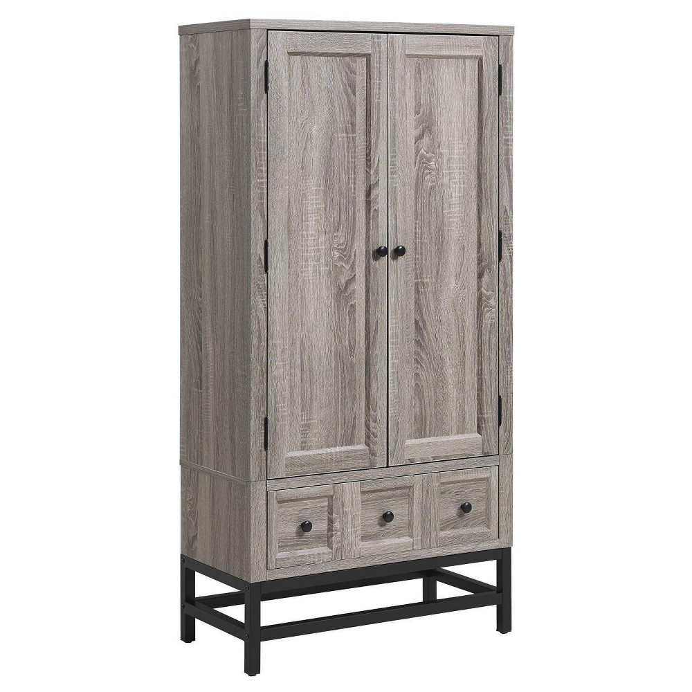 Ivystone Beverage Cabinet - Sonoma Oak - Room & Joy