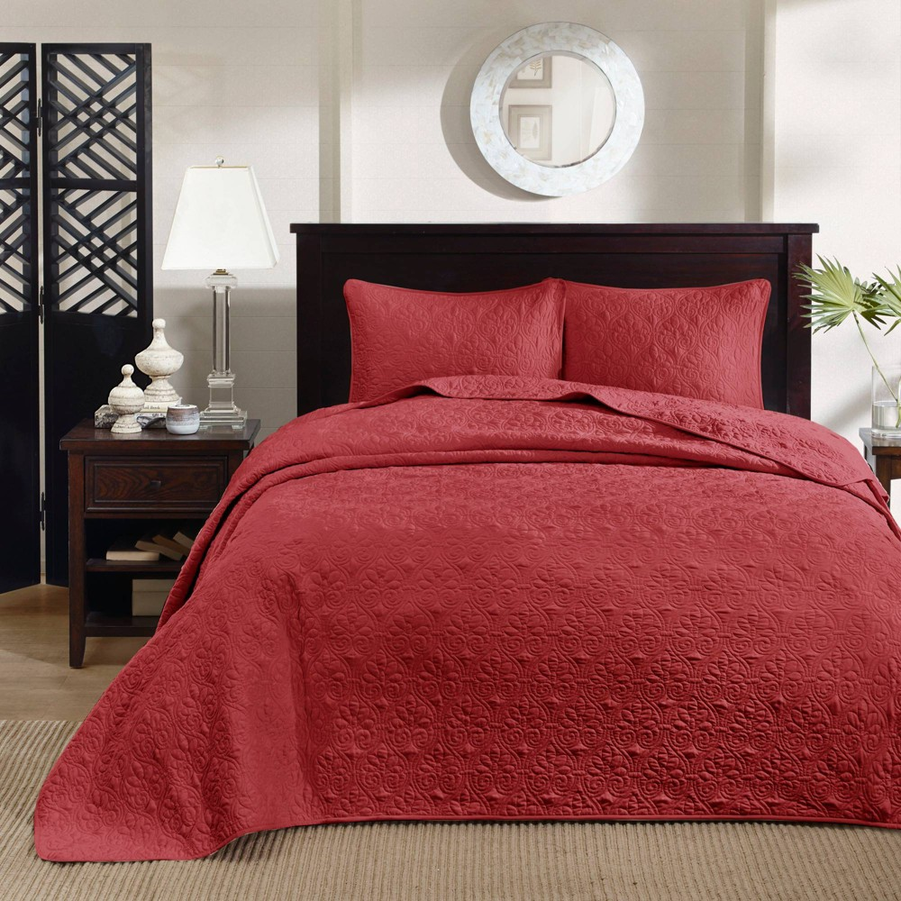 Vancouver Bedspread Mini Set, Red