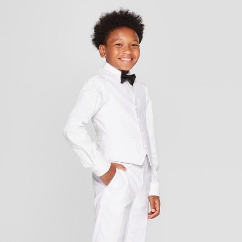 Boys' Fashion Vest White - WD.NY Black - image 1 of 3