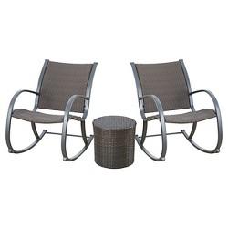 Sensational Gabriela Outdoor Rocking Wicker Chair Brown Abbyson Uwap Interior Chair Design Uwaporg