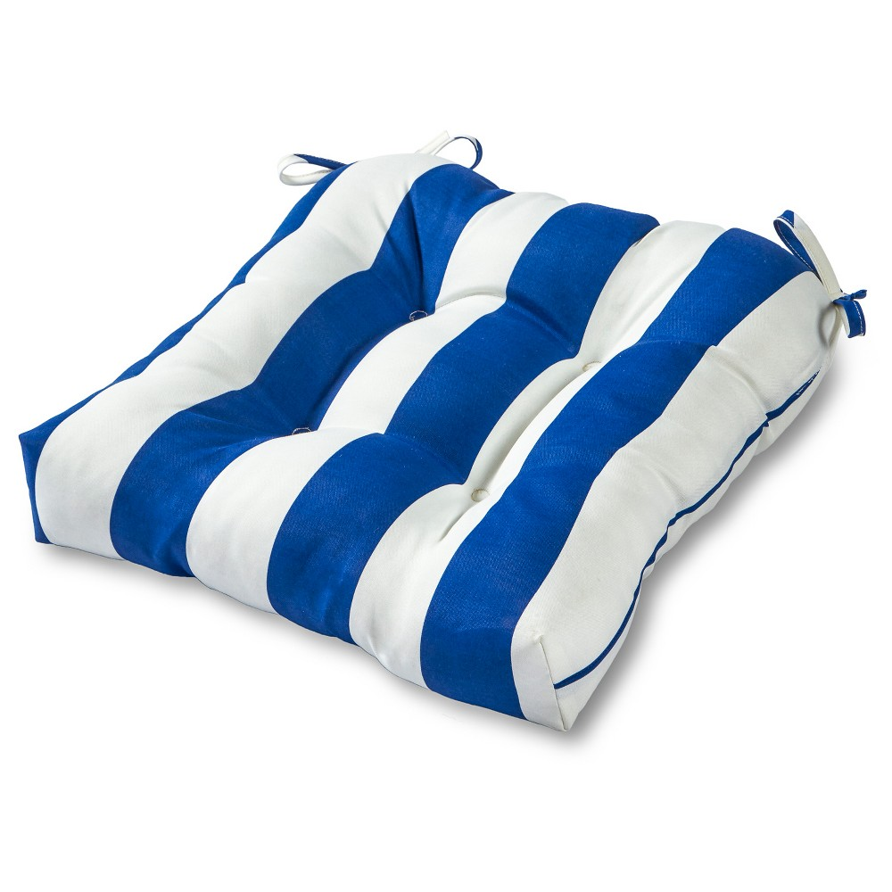 Image of Greendale Home Fashions 20 Outdoor Chair Cushion - Cabana Blue