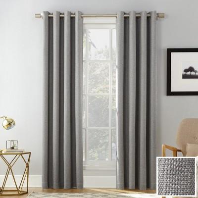 Sun Zero Baxter Theater Grade 100% Blackout Grommet Curtain Panel Gray 52 x84