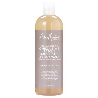 SheaMoisture Sacha Inchi Oil Omega 3 6 9 Rescue Bubble Bath and Body Wash - 16oz
