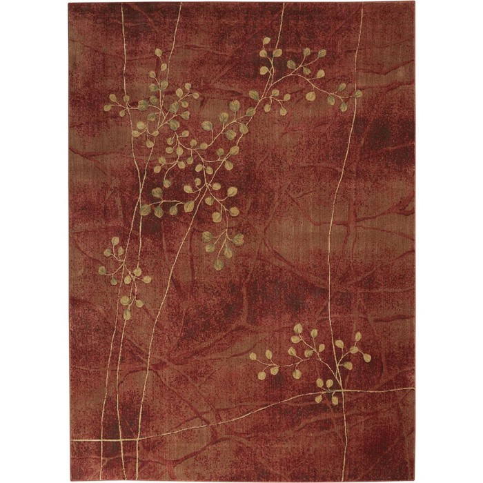 Somerset ST74 Flame Area Rug Contemporary Floral By Nourison - image 1 of 7