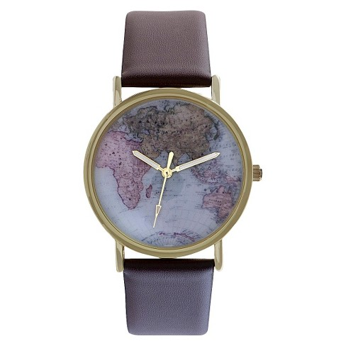 Women's Watch with Atlas Dial Brown - Xhilaration™ - image 1 of 4