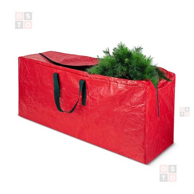 OSTO Waterproof Artificial Christmas Tree Storage Bag for Disassembled Trees up to 7.5 Feet 48x15x20 Inch