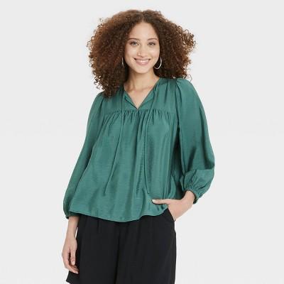 Women's Balloon Long Sleeve Blouse - A New Day™