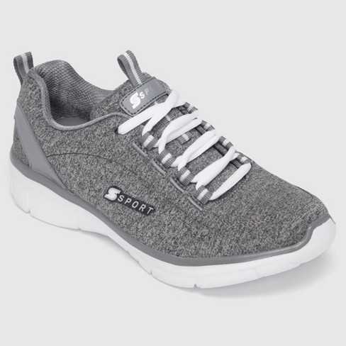 Women's S SPORT BY SKECHERS Sariyah Lace up Jersey Athletic Shoes - Grey 7.5 - image 1 of 4