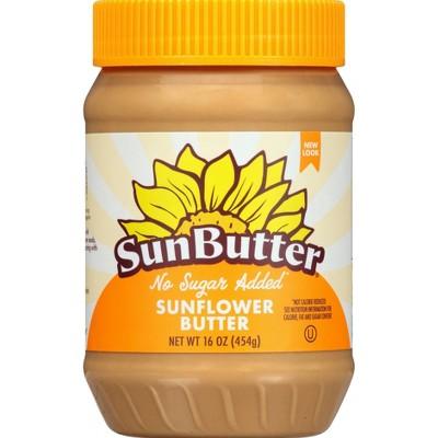 SunButter No Sugar Added Sunflower Butter - 16oz