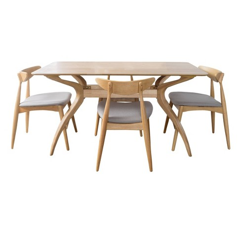 5pc Barron Curved Leg Dining Set - Christopher Knight Home - image 1 of 5