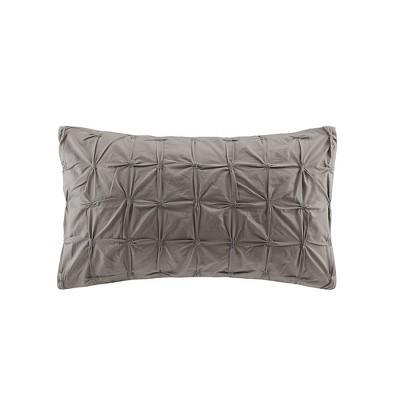 Jane Embroidered Oversize Lumbar Throw Pillow Taupe