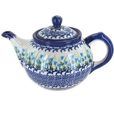 Blue Rose Polish Pottery Misty Small Teapot