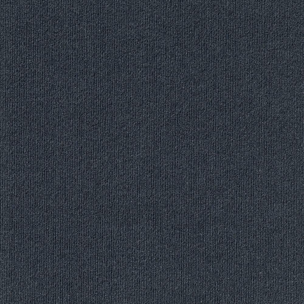24 15pk Ribbed Carpet Tiles Blue - Foss Floors