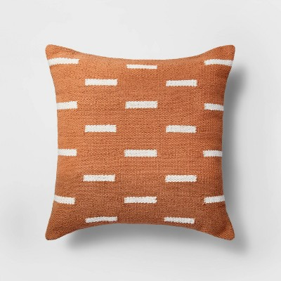 Square Linework Pillow Orange/White - Project 62™