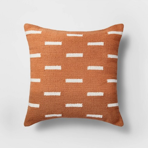 Square Linework Pillow Orange/White - Project 62™ - image 1 of 4