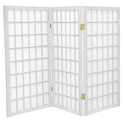 3 ft. Tall Window Pane Shoji Screen (3 Panels) - Oriental Furniture