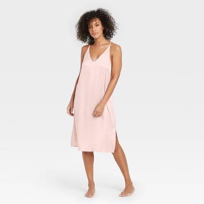 Women's Satin Nightgown - Stars Above™ Soft Pink XL