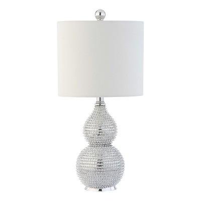 "20"" Clarabel Table Lamp Silver (Includes CFL Light Bulb) - Safavieh"