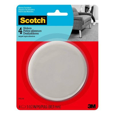 Scotch 4pk Reusable Hard Sliders Gray