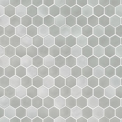 Tempaper Hexagon Tile Self-Adhesive Removable Wallpaper Gray