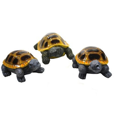 """Home & Garden 3.5"""" Turtle Family Yard Decor Set Of Three Direct Designs International  -  Outdoor Sculptures And Statues"""