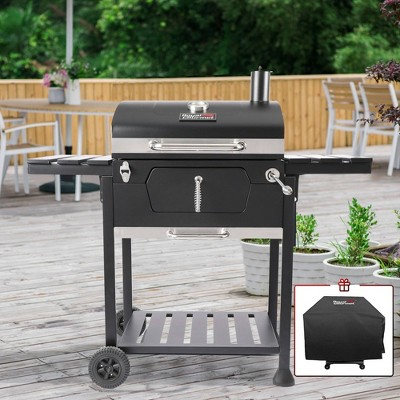 Royal Gourmet 24'' Charcoal Grill With Cover CD1824EC Black