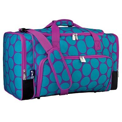 "Wildkin 22"" Duffel Bag - Big Dot Aqua"