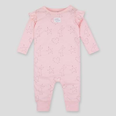 Lamaze Baby Girls' Printed Organic Cotton Romper - Pink 3M