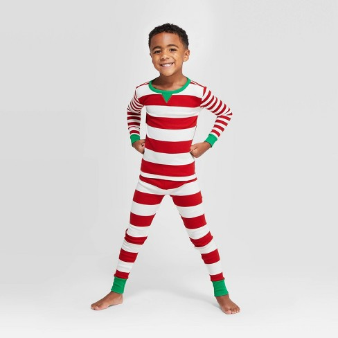 Kids' Striped Holiday Union Suit - Wondershop™ Red - image 1 of 4