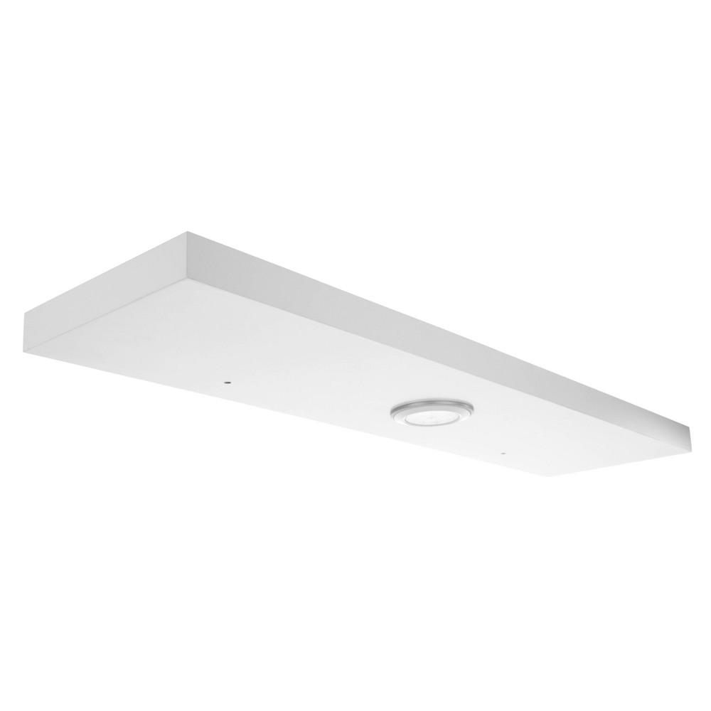 """Image of """"35.4"""""""" x 1.5"""""""" Stockholm Aberg Floating Shelf with LED Light White - Kiera Grace"""""""