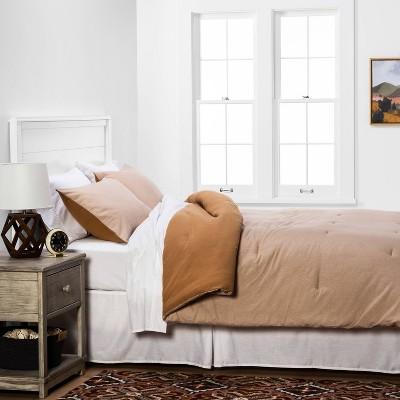 Flannel Herringbone Comforter & Sham Set Tan - Threshold™ : Target