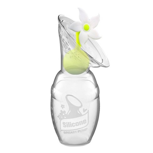 Haakaa Breast Pump without Suction Base and White Flower Stopper - 4oz - image 1 of 4